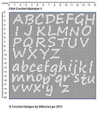 Filet Crochet Block Alphabet Chart Genuine Crochet Letters Chart