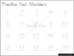 Free Printable Tracing Numbers 1 20 Worksheets Inspirational Free ...
