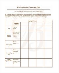 Wedding Venue Comparison Chart 13 Wedding Chart Samples Free Sample Example Format