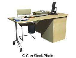 office desk clipart. Perfect Desk Office Desk  3D Digital Render Of An Office Desk Isolated On Clipart B