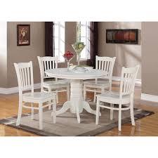 east west furniture shgr whi w shelton piece linen white round antique cherry kitchen table