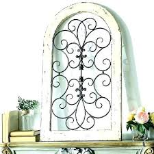 arch l decor arched window outstanding mirror large wall decorative arched wrought iron wall decor