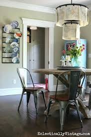 industrial farmhouse dining table modern farmhouse kitchen love the round table and industrial chairs with clip
