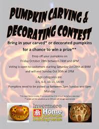 pumpkin carving contest flyer pumpkin carving decorating contest invermere home hardware