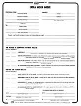 construction work order format form 103 extra work order reusable pdf format