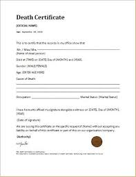 Requesting A Death Certificate Certificates Remarkable Death Certificate Template Example