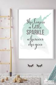 Unicorn Room Decor Printable