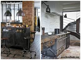 Industrial Kitchen Cabinets Paperstone Countertops Kitchen Industrial With Ceiling Lights Dark