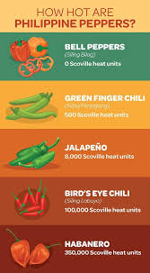 Chilli Hotness Chart How Hot Are Philippine Chili Peppers
