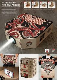 That Box Design Pizza Hut Block Buster Projector Box On Packaging Of The