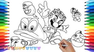 How To Draw Mario Odyssey 23 Drawing Coloring Pages For Kids