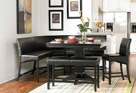 corner kitchen table with storage bench