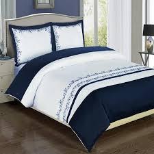 navy blue duvet cover modern navy blue white embroidered cotton duvet cover set navy blue duvet