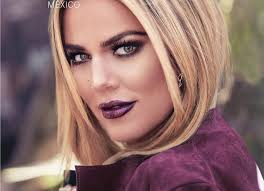 khloe kardashian sizzles with purple lipstick on glamour mexico see the y snaps