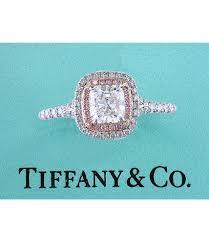 pink diamond platinum engagement ring 1 37ct cab 02677 tiffany co soleste cushion pink diamond platinum engagement ring 137ct 924404038 jpeg
