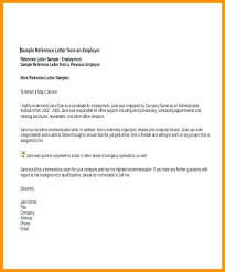 Template Of Reference Letter Metabots Co