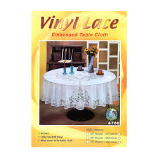 dolphin collection 6700 36rd vinyl lace tablecloth round