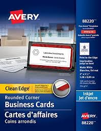Avery 8870 Template Avery Two Side Printable Clean Edge Rounded Corner Business