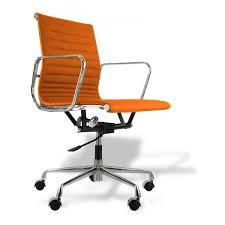 office chair orange leather buerostuhl charles eames ea117 leder orange jpg