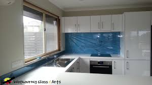 Kitchen Tiles For Splashbacks Blue Splashback With Curved Tiles Wathaurong Glass