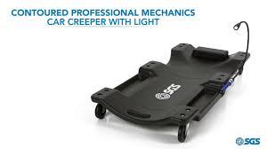 Light Up Creepers Contoured Professional Mechanics Car Creeper With Light