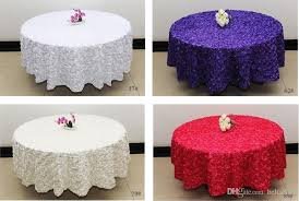 white 2 6 m wedding round table cloth overlays 3d rose flower tablecloths wedding decoration supplier small round tablecloths clearance tablecloths from