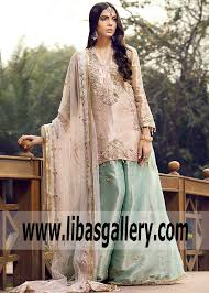 Designer Party Wear Shirts India Indian Pakistani Designer Farida Hasan Sharara Dresses