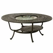 berkshire 48 round gas fire pit table by hanamint