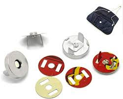 HOUSWEETY <b>20Sets Silver Tone</b> Magnetic Purse Snap Clasps ...