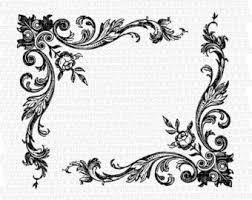 Antique Frame Victorian Designs Vintage Clip Art Illustrations