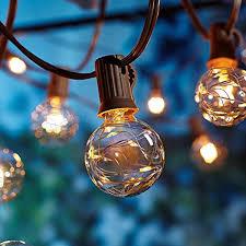 Mainstays 100ct Warm White Led Lights Ul G40 Globe String Lights 12ft Ul Listed Backyard Patio