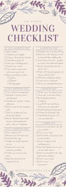 bridal checklist brides complete checklist for a simple wedding infographic best