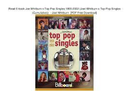Read E Book Joe Whitburn S Top Pop Singles 1955 2002 Joel