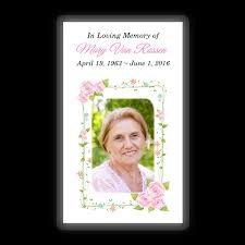 Funeral Remembrance Cards Memorial Card Layout I