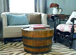 how to make a wine barrel coffee table diy wine barrel coffee table whiskey barrel table
