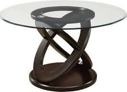 monarch specialties i 1749 dark espresso 48 diameter tempered glass dining table enhance your dining experience with this contemporary 48 round dining