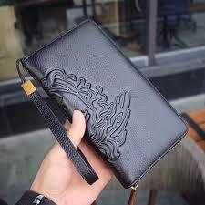 New <b>Hot</b> Women Men Genuine Leather <b>Long Zipper Clutch</b> Wallets ...