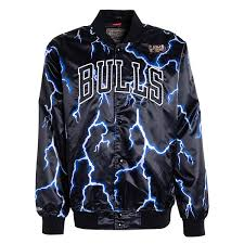 Mitchell And Ness Nba Lightning Chicago Bulls Satin Jacket