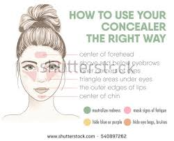 how to apply your concealer the right way infographic chart vector ilration with makeup and