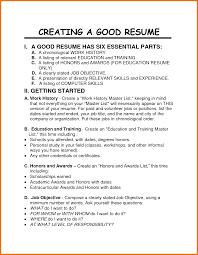 Good Resumes For Jobs Good Job Resume Objectives Soaringeaglecasinous 10