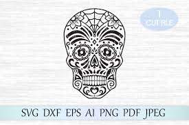 These free svg files work with silhouette, cricut, and other cutters. Sugar Skull Day Of The Dead Graphic By Magicartlab Creative Fabrica