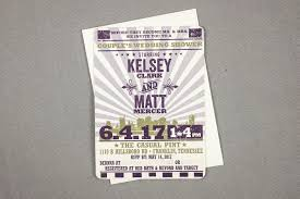 Couple Wedding Shower Invitations Hatch Concert Poster Couples Wedding Shower Invitation Purple And Green Te1