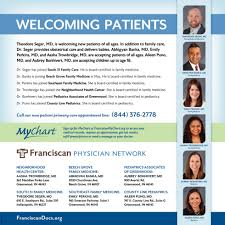Welcoming Patients Franciscan Physician Network