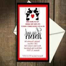 gallery of mickey and minnie wedding invitation