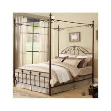 Metal Canopy Bed Poster Antique Wrought Iron King Headboard ...