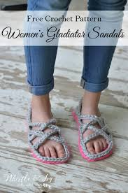 Crochet Sandals Pattern For Adults Free