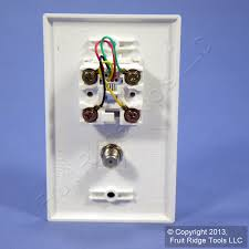 wiring diagram for phone wall jack images jack wall also leviton light almond phone cable catv video jack wall