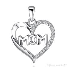 2019 for women new mom jewelry authentic 925 sterling silver heart necklace pendant clear cz charm mother day gift from qianse jewelry 8 41 dhgate com