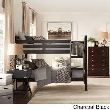 TheseSimone bunk beds are the perfect addition to your kid's room. The bunk  beds feature a traditional slat design headboard and footboard and a guard  rail ...