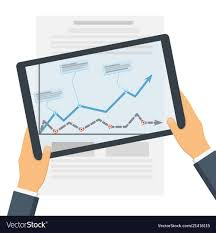 Digital Graphs And Charts On The Tablet